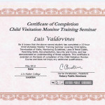 Luis' Certificate of Completion of Monitoring Course
